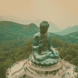 Il grande Buddha a Landau Island