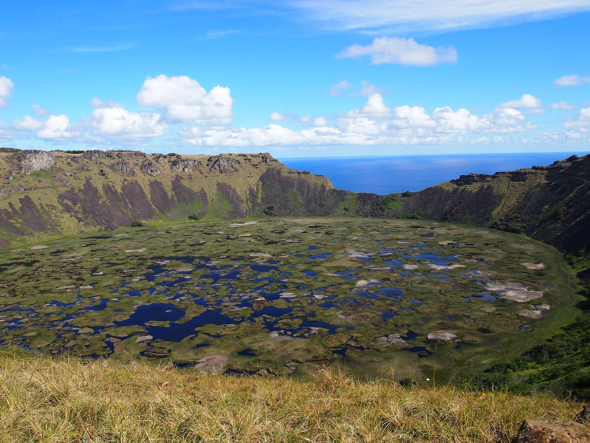 Easter Island Caldera lake