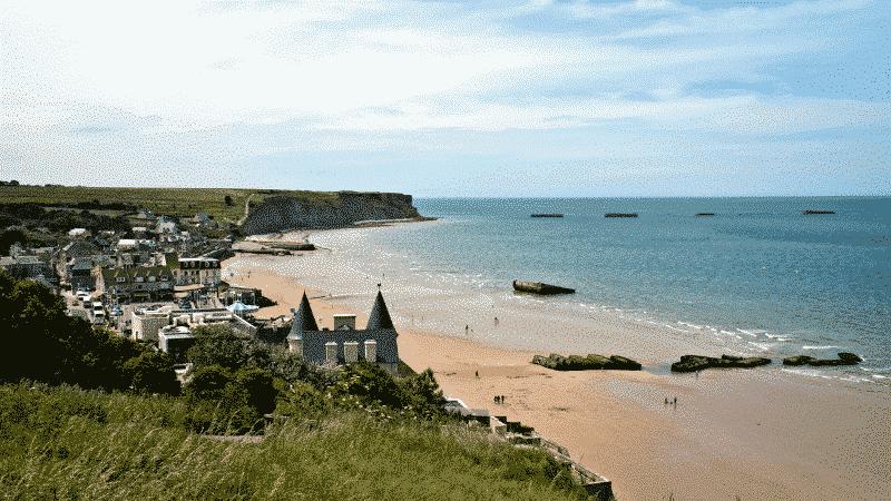 France Normandy beach