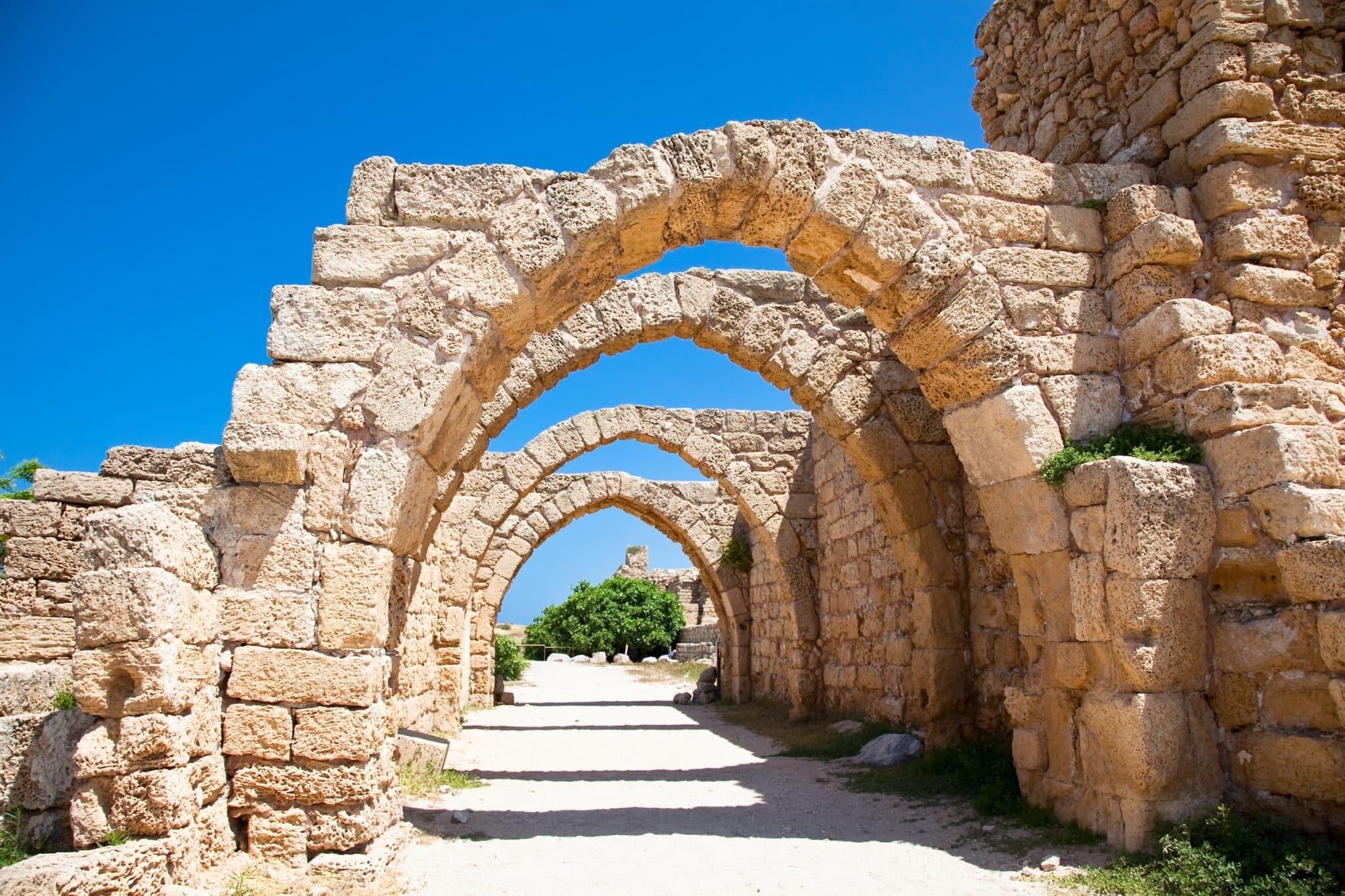 Ruins of antique Caesarea. Israel.