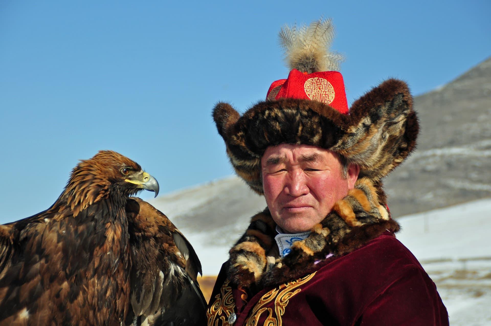 Mongolia eagle traditional