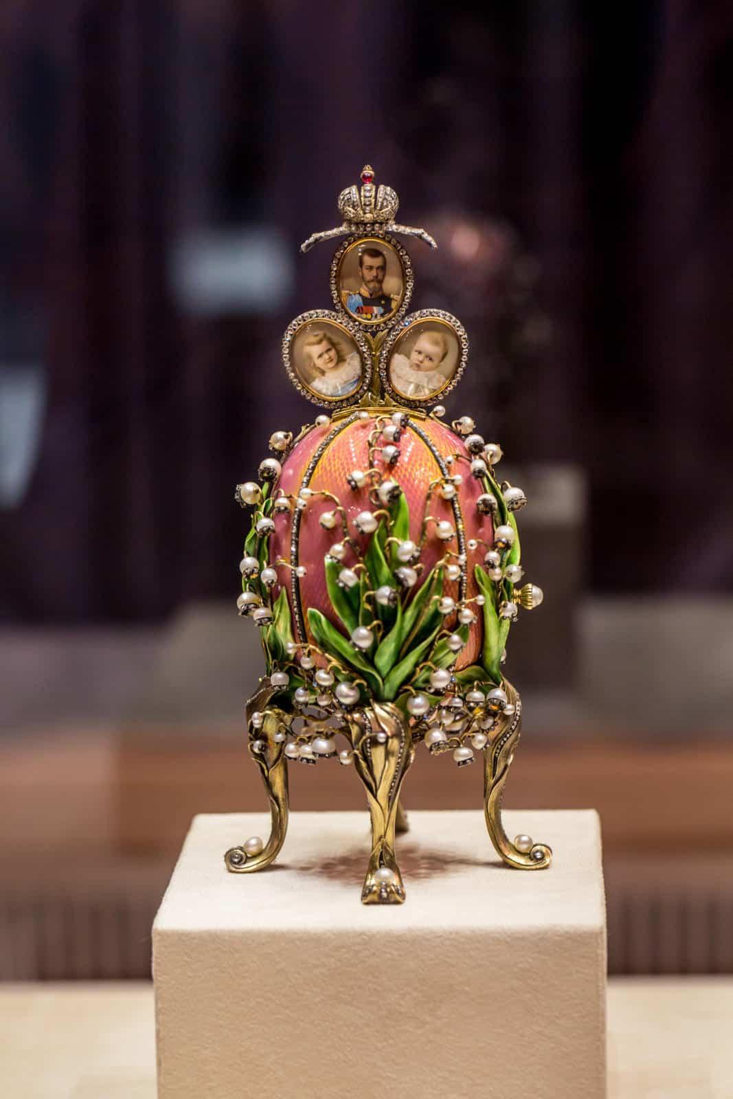 Russian Faberge Egg Jewelry Box