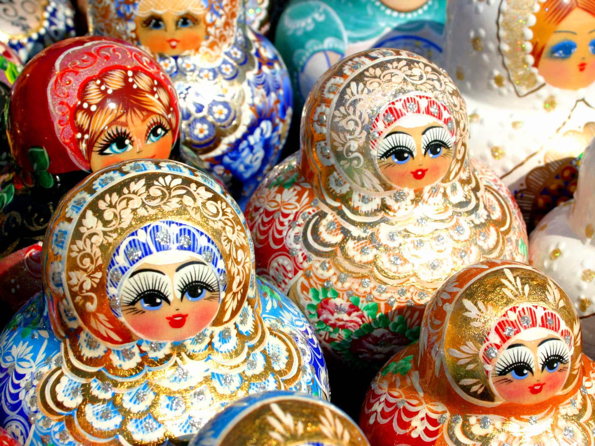 Russia; Matrioshka dolls